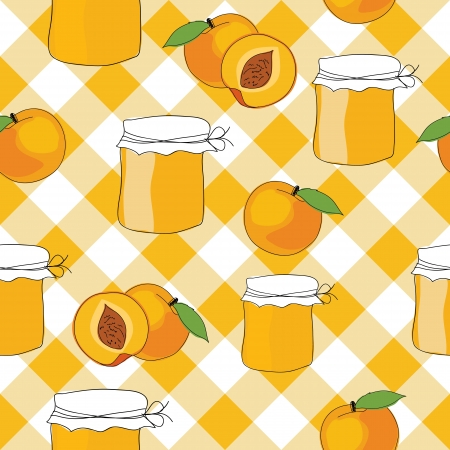 seamless pattern of peach jam Vector