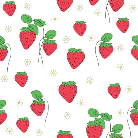 seamless pattern of strawberry Vector