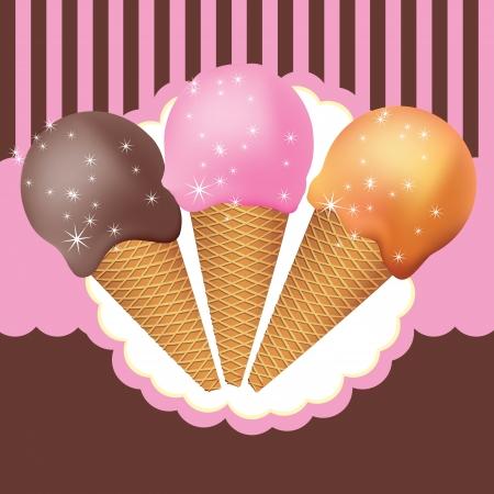 wafers: vector of ice cream