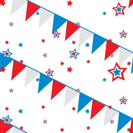 seamless pattern with festive flags Vector