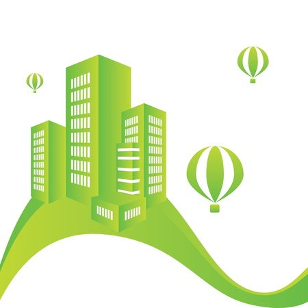 vector of the green city