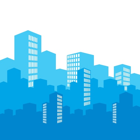 windows home: vector city Illustration