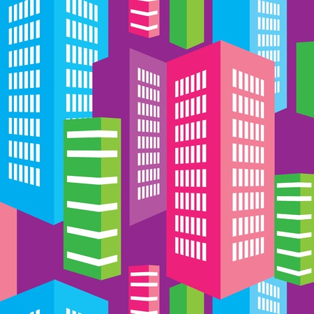 seamless pattern of the city Vector