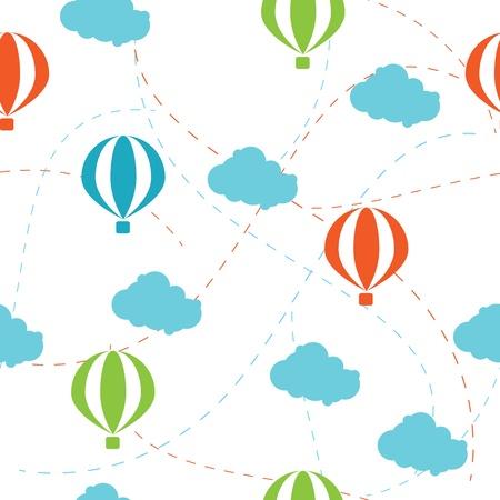 seamless pattern of air balloon Illustration