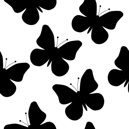 seamless pattern of a butterfly Vector
