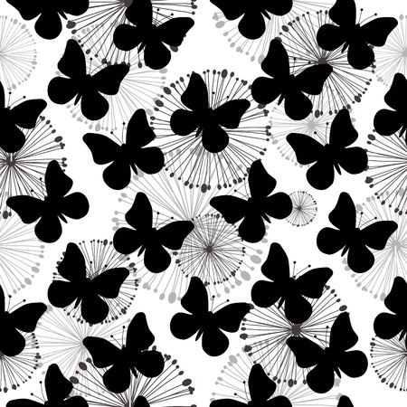 repeated: seamless pattern of a butterfly