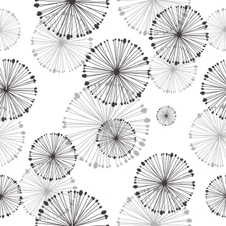 textiles: seamless pattern of dandelion