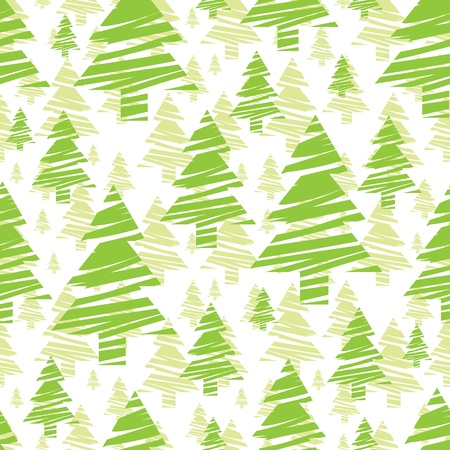seamless pattern of green trees Vector