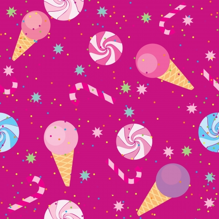 seamless pattern of sweets, ice cream, candy Stock Vector - 13762040
