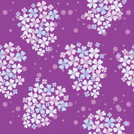 multiplying: seamless pattern of lilac flowers Illustration