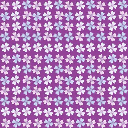 seamless pattern of lilac flowers Vector