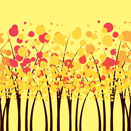 the autumn forest Vector