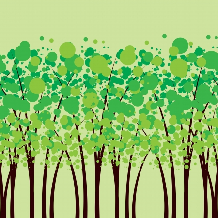 multiplying: green trees, the forest Illustration