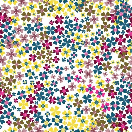 Seamless de fleurs colorées Banque d'images - 14016628