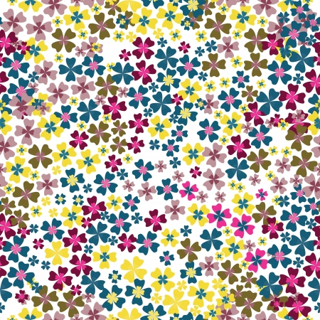 seamless pattern of colorful flowers Illustration