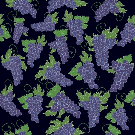 seamless pattern of grapes Vector