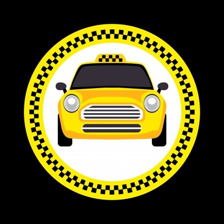 checkerboard backdrop:  a taxi Illustration