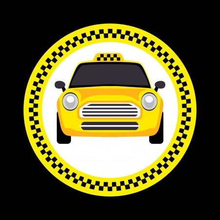 un taxi Ilustración de vector