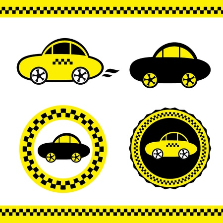 chequerboard: a taxi Illustration