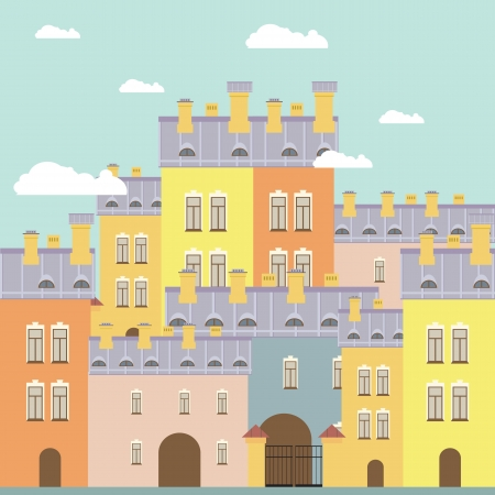 background of the city Stock Vector - 14095995