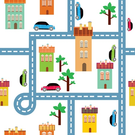 background of the city Stock Vector - 14096006