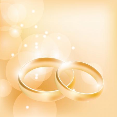 bröllop: vigselringar på en abstrakt bakgrund Illustration