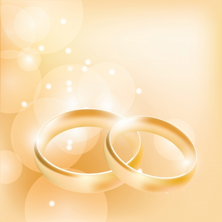 rings: wedding rings on an abstract background Illustration