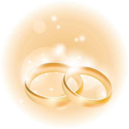 wedding rings on an abstract background Illustration