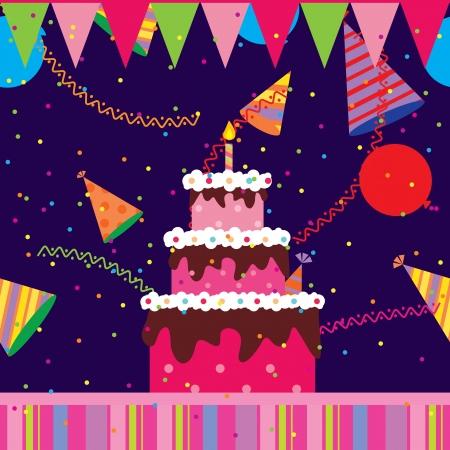 Gâteau d'anniversaire Banque d'images - 14204803