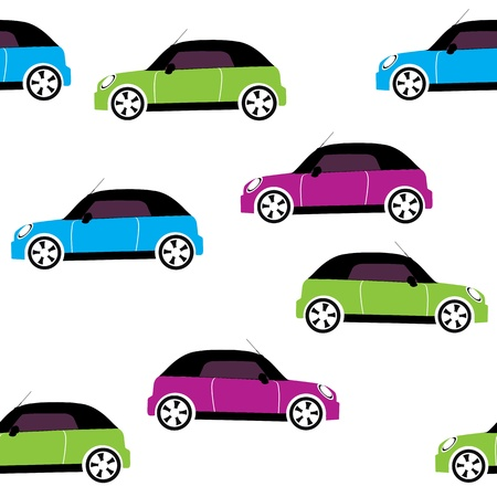 seamless pattern with cars Stock Vector - 14285441