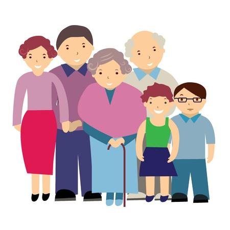 societies: vector illustration of a family Illustration