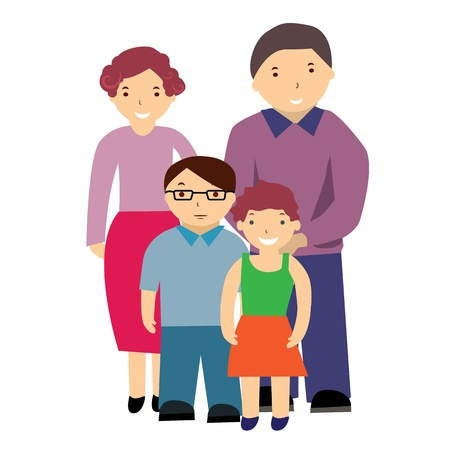 family picture: illustration of a family