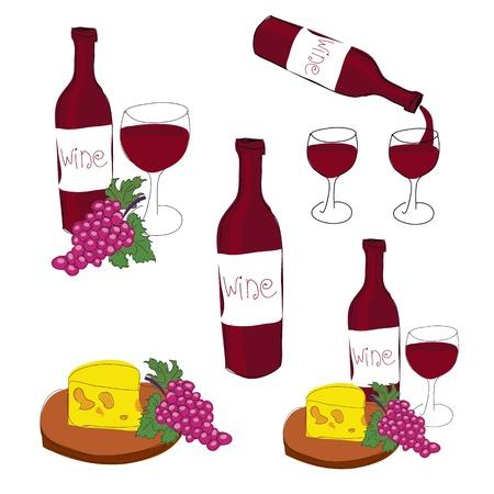 clip art wine: illustration of red wine