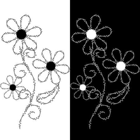gestickt: Nahtlose Muster aus bestickter Spitze Illustration