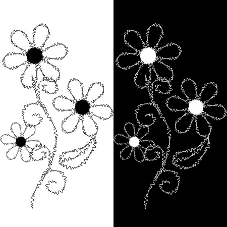 Seamless pattern of embroidered lace Vector