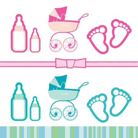 Illustration of a children s collection of objects Vector