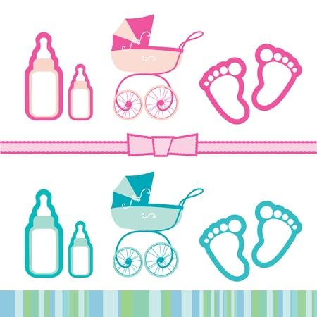 Ilustración de una colección para los niños s de los objetos