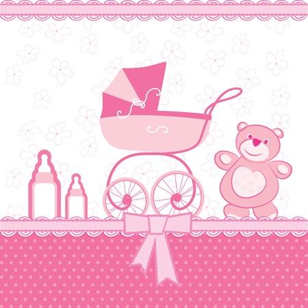 feeding bottle: greeting card birth