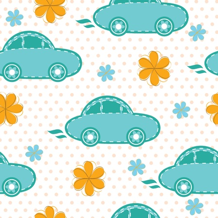 Seamless pattern of cars Vector
