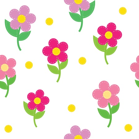 embroidery flower: seamless pattern of flowers