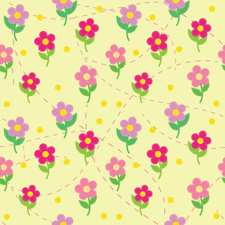 sewing pattern: seamless pattern of flowers