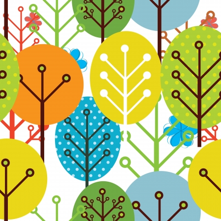 Seamless pattern d'arbres Banque d'images - 14387932