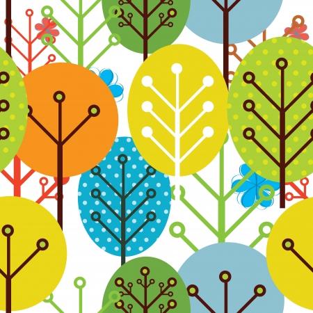 seamless pattern of trees Illustration