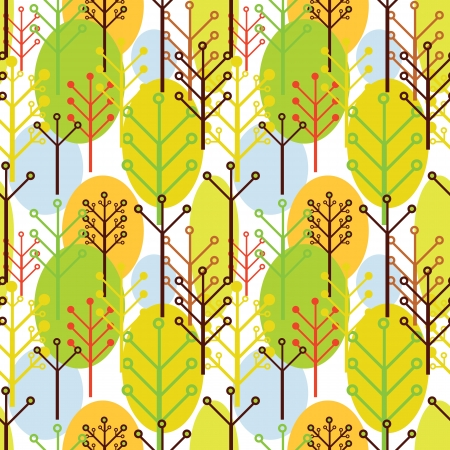 seamless pattern of trees Vector
