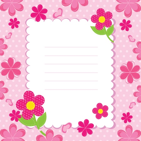 vector background with pink flowers Stock Vector - 14387933