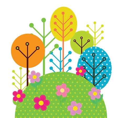 Illustration of forest trees Vector