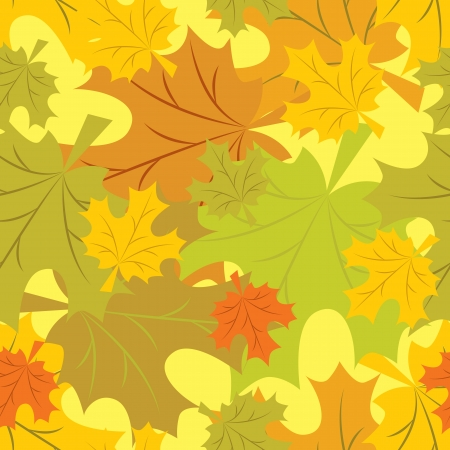 repeated: seamless pattern of autumn leaves