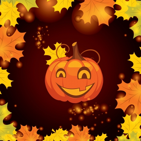 vector illustration Halloween pumpkin Vector