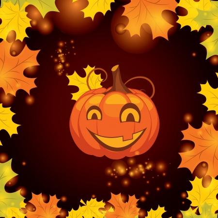 pumpkin face: vector illustration Halloween pumpkin Illustration