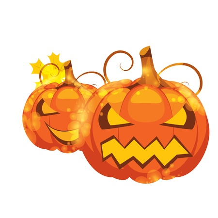 vector illustration of halloween pumpkins on white background Stock Vector - 14480693